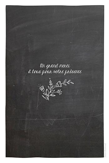 Menu de baptême Ardoise fleurs noir - Page 4