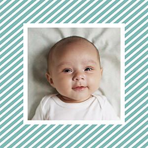 Carte de remerciement Petit sucre d\'orge photo turquoise