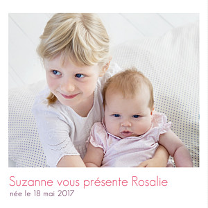 Faire-part de naissance Simple 1 photo blanc