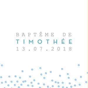 Etiquette de baptême Éveil bleu
