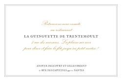 Carton d'invitation mariage Feuillage or