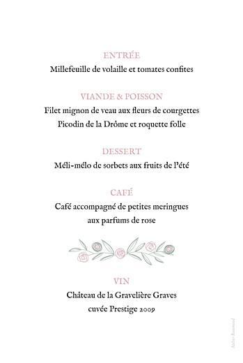 Menu de baptême Douceur champêtre blanc - Page 2