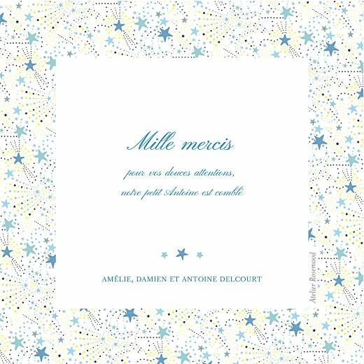 Carte de remerciement Merci liberty étoiles photo bleu - Page 2