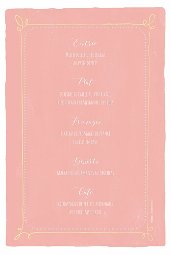 Menu de baptême Happy day corail - Page 2
