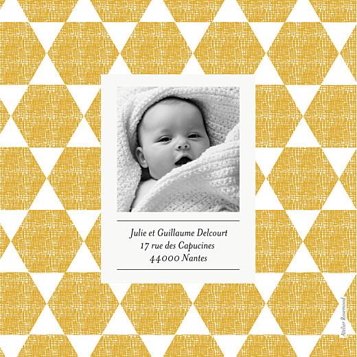 Faire-part de naissance Toile de lin jaune