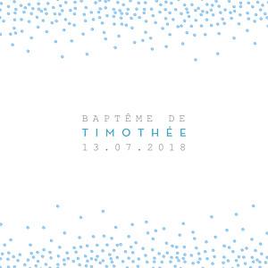 Faire-part de baptême Éveil (triptyque) bleu