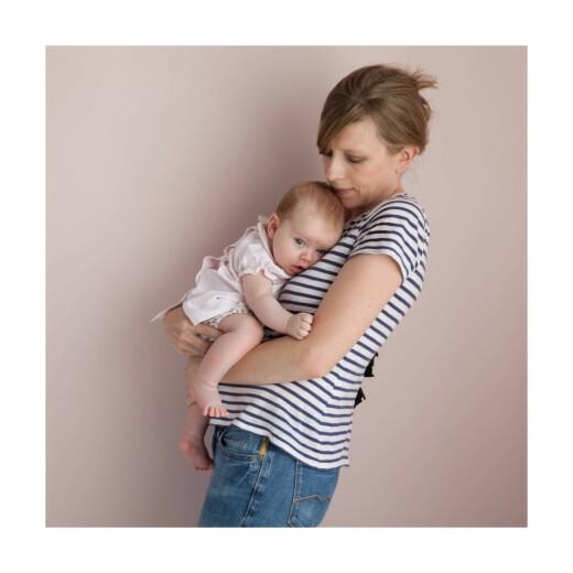 Carte de remerciement Petit lovely family photo fille