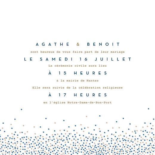 Faire-part de mariage Confetti bleu - Page 3