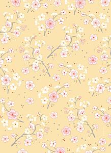 Livret de messe Cerisiers en fleurs jaune