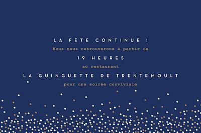 Carton d'invitation mariage Confetti bleu finition