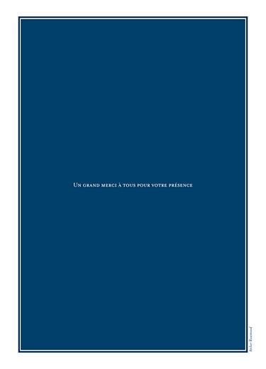Livret de messe mariage Carré chic bleu marine - Page 4