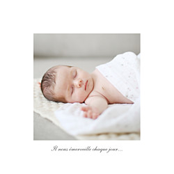 Faire-part de naissance Carrousel photo blanc