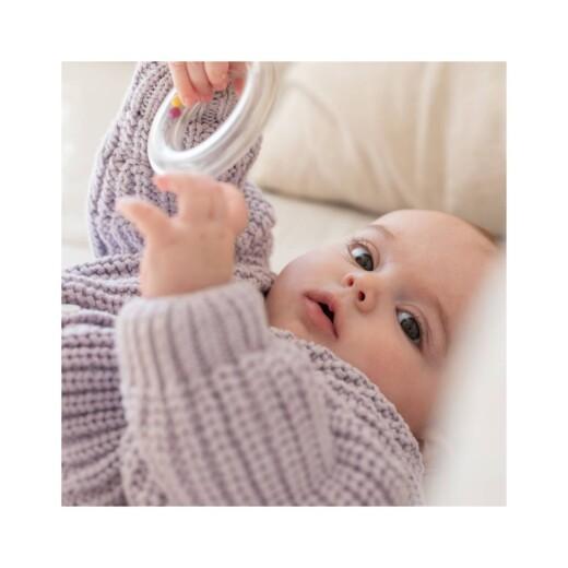 Carte de remerciement Petit carrousel photo blanc