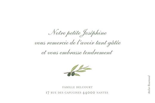 Carte de remerciement Petit olivier blanc