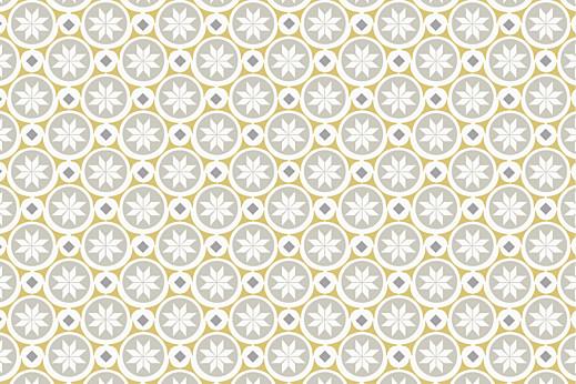 Carte de correspondance Mosaïque gris & jaune
