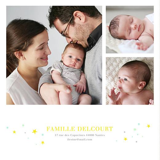 Faire-part de naissance Liberty étoiles 3 photos jaune - Page 2