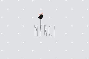Carte de correspondance Lovely cœurs gris