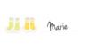 Marque-place Baptême Balade jumeaux jaune - Page 1