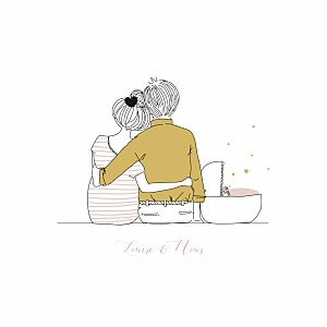 Faire-part de naissance my lovely thing  lovely family (4 pages) fille