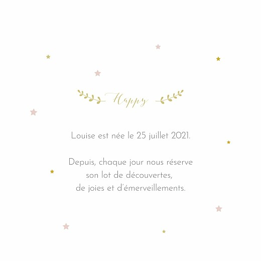 Faire-part de naissance Lovely family (4 pages) fille