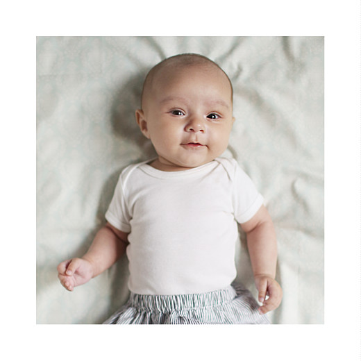 Faire-part de naissance Little dots blanc