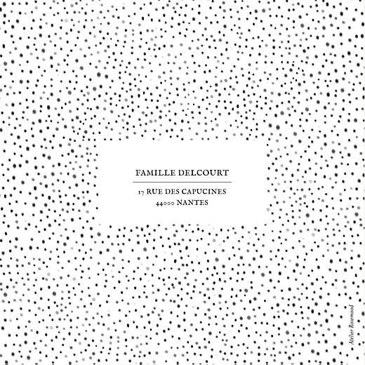 Faire-part de naissance Little dots blanc