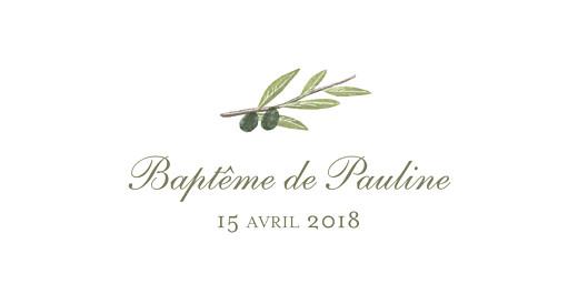 Marque-place Baptême Olivier vert - Page 4