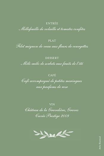 Menu de baptême Olivier vert - Page 2