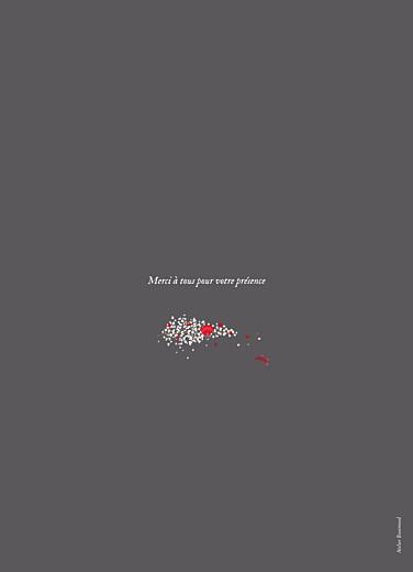Livret de messe mariage Couronne de fleurs gris & rose - Page 4