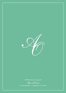 Livret de messe mariage Chic liseré vert