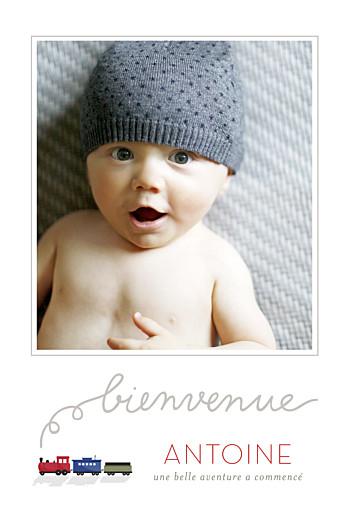 Faire-part de naissance Jouets d'antan portrait garçon
