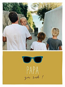 Affichette Daddy cool moutarde