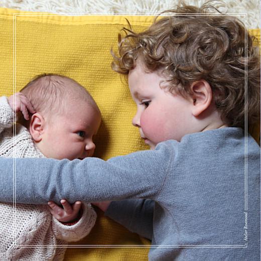 Faire-part de naissance Mon bébé joli 4 pages kraft
