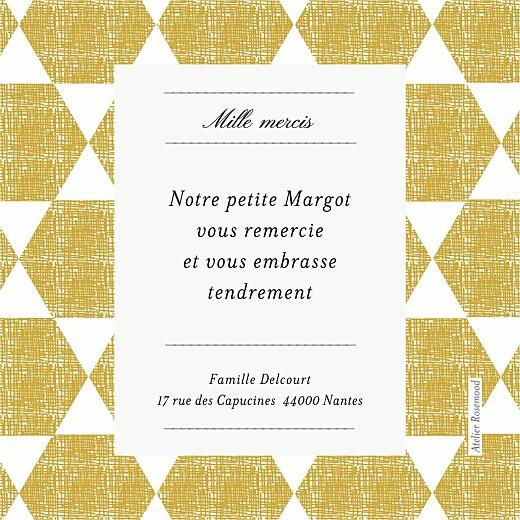 Carte de remerciement Merci toile de lin photo jaune - Page 2