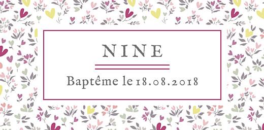 Marque-place Baptême Liberty cœur prune - Page 4