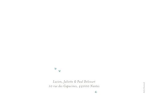 Faire-part de naissance Éléphant aquarelle photo bleu - Page 2