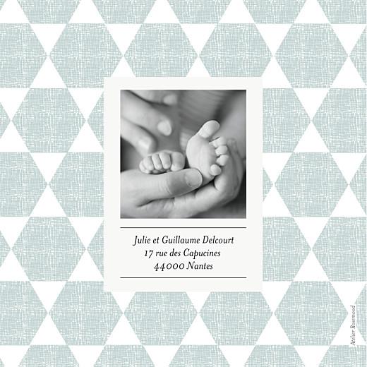 Faire-part de naissance Toile de lin (4 pages) vert