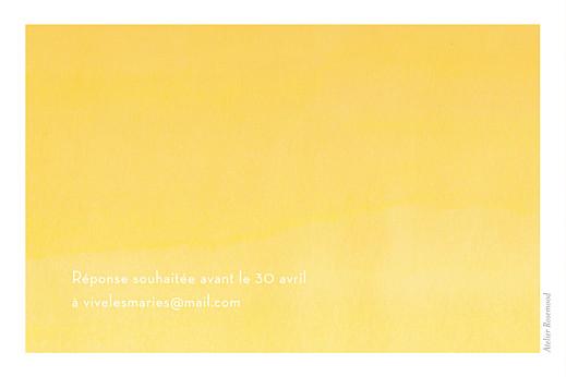 Carton d'invitation mariage Aquarelle jaune - Page 2