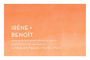 Carton d'invitation mariage Aquarelle orange