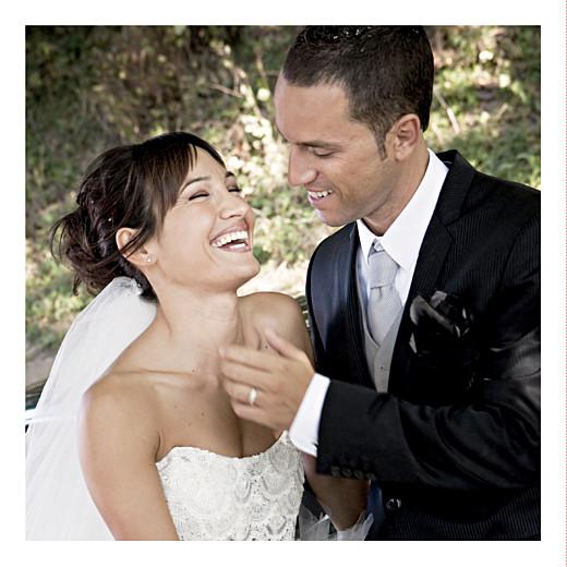 Carte de remerciement mariage Aquarelle bleu