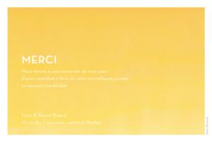 Carte de remerciement mariage Aquarelle paysage jaune