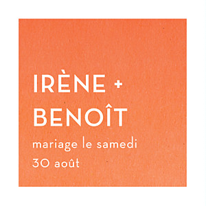 Etiquette de mariage Aquarelle orange