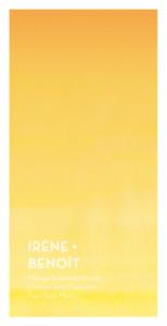 Menu de mariage Aquarelle jaune