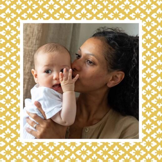 Faire-part de naissance On dirait le sud grand triptyque jaune