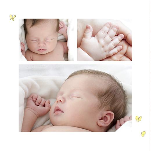Faire-part de naissance Petits lapins (2 enfants) fille - Page 2