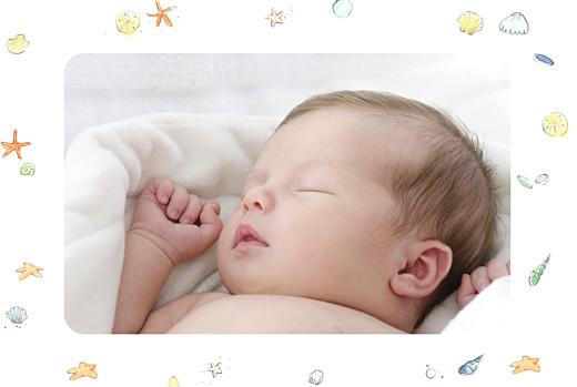Faire-part de naissance Conte d'été photo bleu
