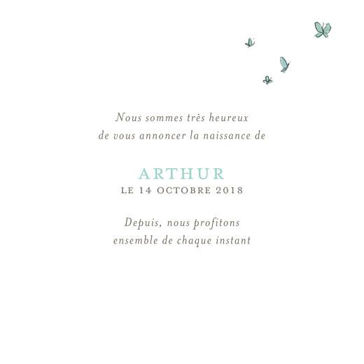 Faire-part de naissance Hibou aquarelle 2 photos blanc - Page 3