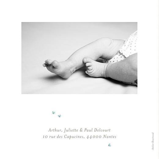 Faire-part de naissance Hibou aquarelle 2 photos blanc - Page 4