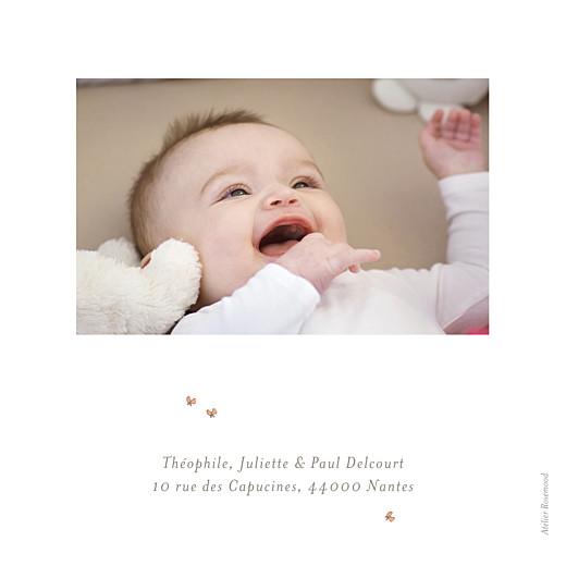 Faire-part de naissance Chien aquarelle 2 photos blanc