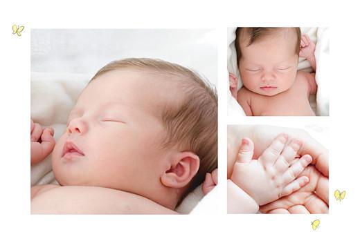 Faire-part de naissance Petits lapins (3 enfants) garçon - Page 2
